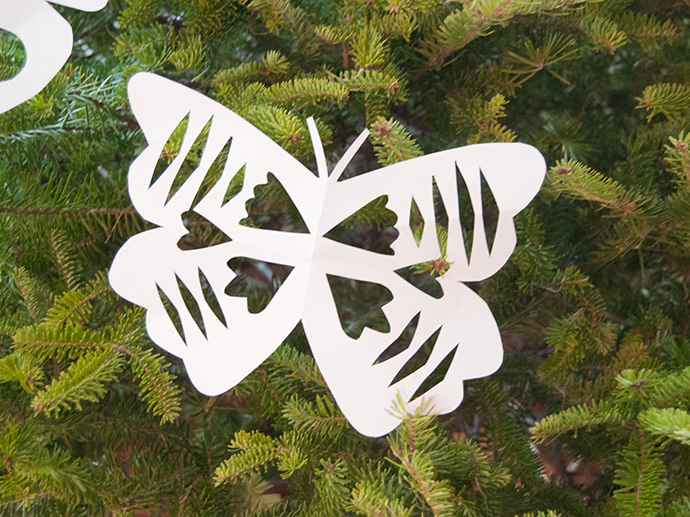 Butterfly Paper Snowflakes