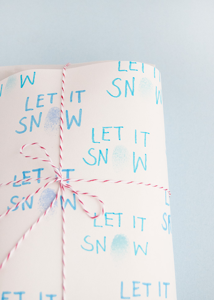 Fingerprint Winter Gift Wrap