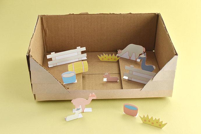 Printable Alpaca Farm Diorama Playset