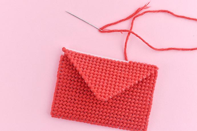 Kawaii Plastic Canvas Gift Card Envelope