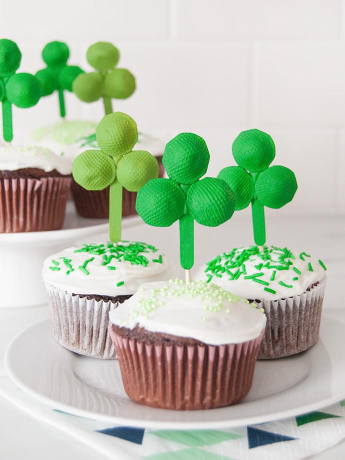 Pasta Shamrock Cupcake Toppers