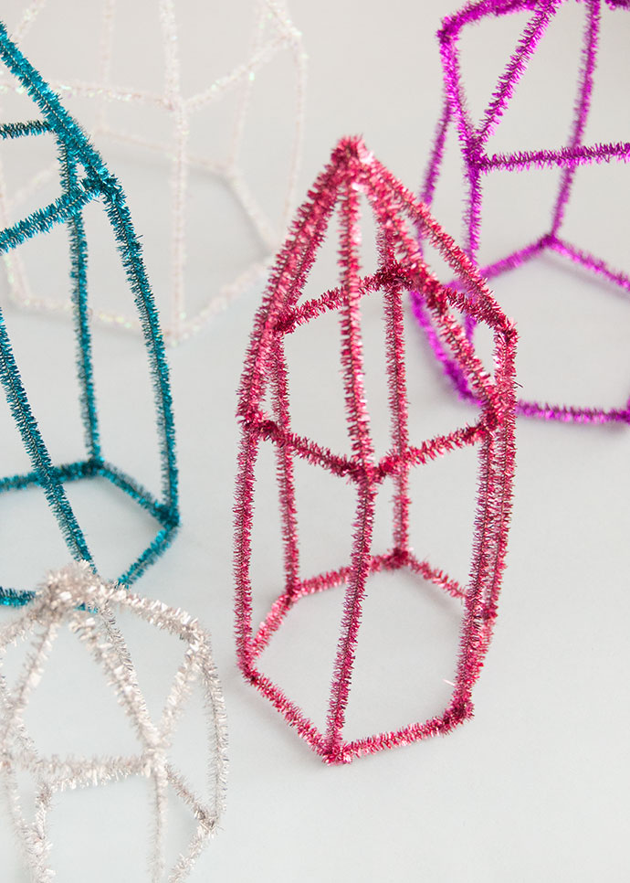 Pipe Cleaner Crystals and Gems