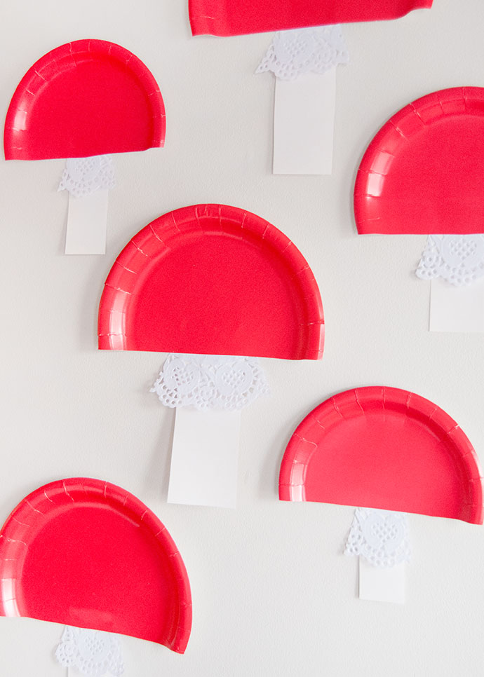 Paper Plate Toadstools