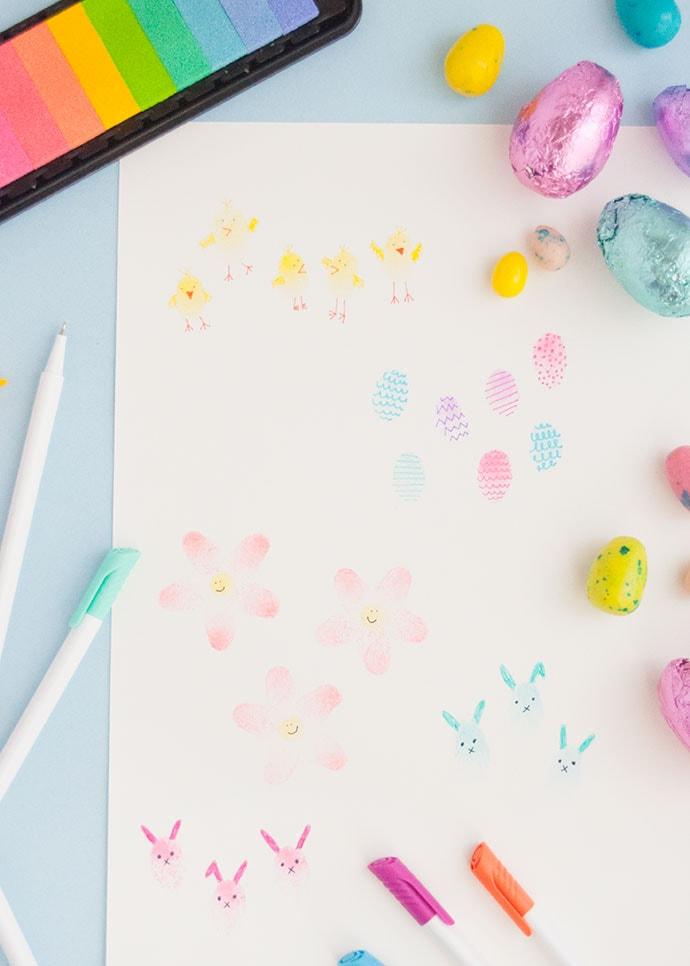 Easy Easter Fingerprint Art