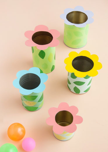 Flower Tin Can Toss
