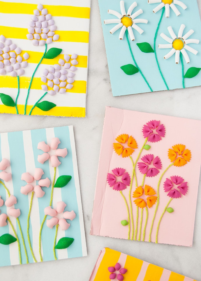 Macaroni Art Mother's Day Cards