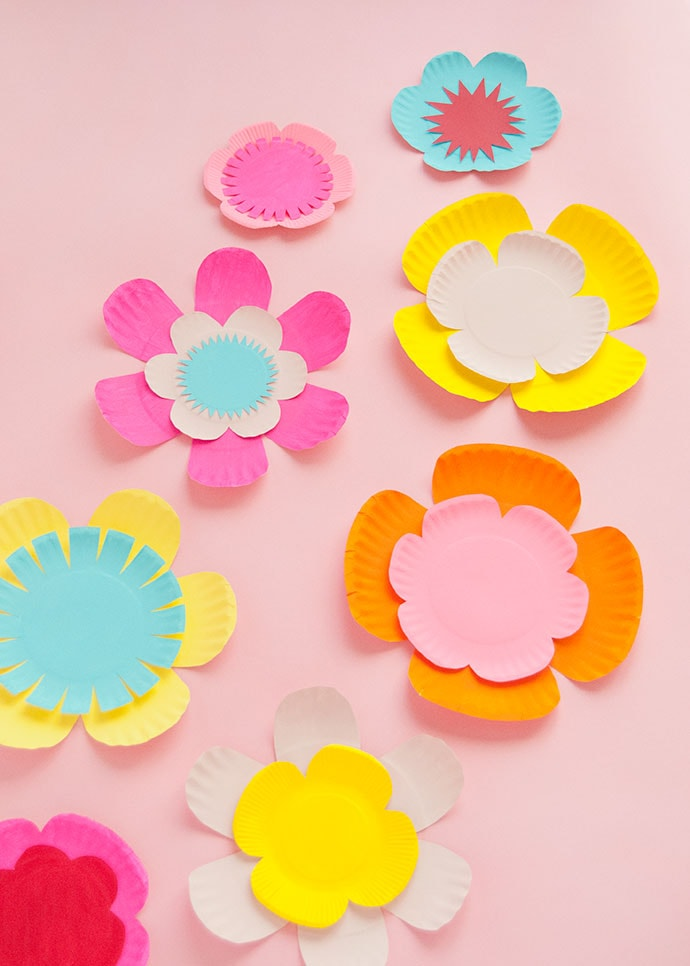 Painted Paper Plate Flowers