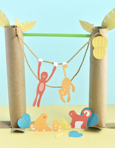 Printable Monkey Diorama Playset