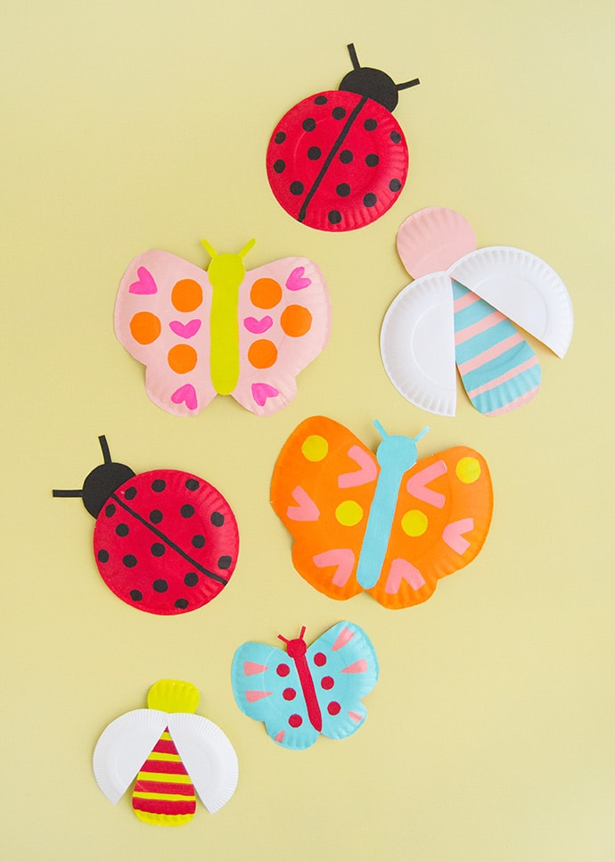 Painted Paper Plate Bugs
